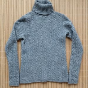 100% cashmere cable knit sweater